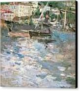 Harbor At Nice Canvas Print