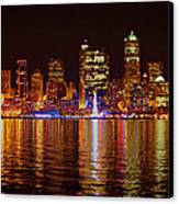 Harbor Lights Canvas Print by Donald Torgerson
