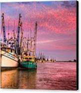 Harbor Sunset Canvas Print by Debra and Dave Vanderlaan