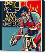 Hard As Nails Vintage Cycling Poster Canvas Print by Sassan Filsoof