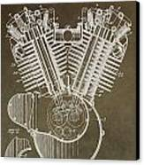 Harley Davidson Engine Canvas Print by Dan Sproul