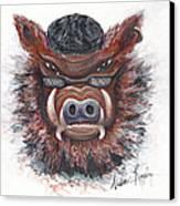 Harley Hog Canvas Print by Nadine Rippelmeyer