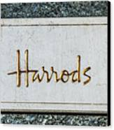 Harrods Canvas Print