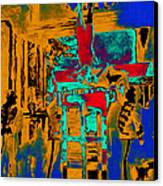 Harry Houdini And The Chinese Water Torture In Abstract Canvas Print by Wingsdomain Art and Photography