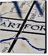 Hartford Sculpture Canvas Print by Stephen Melcher