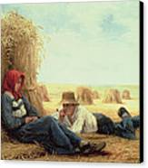 Harvest Time Canvas Print by Julien Dupre
