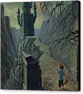 Haunted Castle Nightmare Canvas Print by Martin Davey
