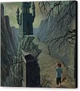 Haunted Castle Nightmare Canvas Print