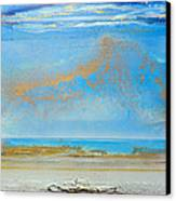Hauxley Haven Rhythms And Blues  Canvas Print by Mike   Bell