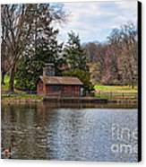 Haverford Skating Cabin Canvas Print
