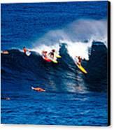 Hawaii Oahu Waimea Bay Surfers Canvas Print by Anonymous
