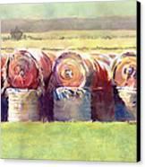 Hay Bales Canvas Print by Kris Parins