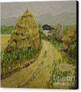 Hay Stack Canvas Print by Lilibeth Andre