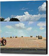 Haybales - The Other Side Of The Tunnel Canvas Print by Blue Sky