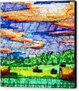 Hayfields Canvas Print by Jame Hayes