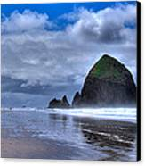 Haystack Rock Iva Canvas Print by David Patterson