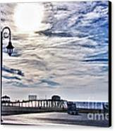 Hdr Beachtown Beach Ocean Sand Pier Sunrise Clouds Relaxation Photography Photos Sale Gallery Buy  Canvas Print by Pictures HDR
