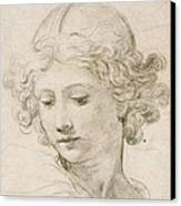 Head Of An Angel Canvas Print by Pietro da Cortona