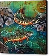 Heading Upstream Canvas Print by Sue Duda