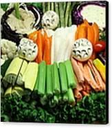 Healthy Veggie Snack Platter - 5d20688 Canvas Print