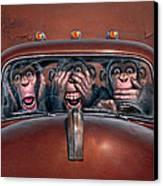 Hear No Evil See No Evil Speak No Evil Canvas Print by Mark Fredrickson