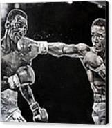 Hearns Vs. Leonard Canvas Print by Michael  Pattison