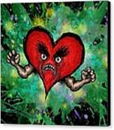 Heart Attack Canvas Print by M o R x N