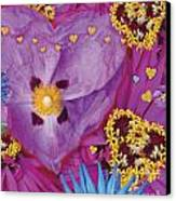 Heart Juxtaposition Canvas Print by Alixandra Mullins