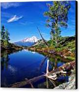 Heart Lake And Mt Shasta Reflection Canvas Print