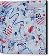 Heart Of America Canvas Print by Julie Acquaviva Hayes