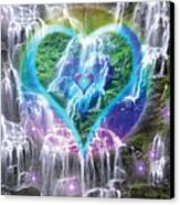 Heart Of Waterfalls Canvas Print