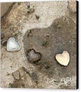 Heart Rock Love Canvas Print by Artist and Photographer Laura Wrede
