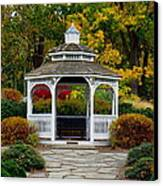 Hearthstone Castle Park Gazebo Canvas Print by Stephen Melcher