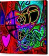 Hearts Desire Canvas Print by Rebecca Flaig