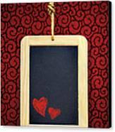 Hearts In Slate Canvas Print by Carlos Caetano