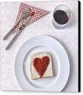 Hearty Toast Canvas Print by Joana Kruse