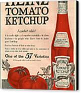 Heinz 1910s Usa Canvas Print