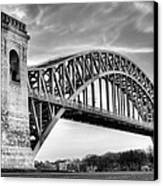 Hell Gate Bw Canvas Print