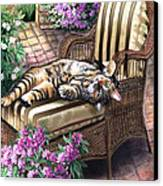 Hello From A Kitty Canvas Print by Regina Femrite