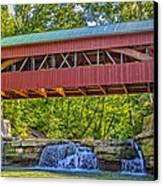 Helmick Mill Or Island Run Covered Bridge  Canvas Print