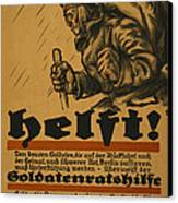 Help Canvas Print by Louis Oppenheim