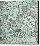 Henna Pattern Canvas Print by Salwa  Najm