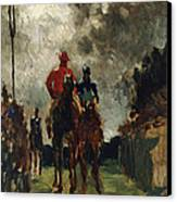 Henri De Toulouse Lautrec Canvas Print by The Jockeys