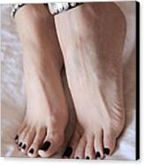 Her Amazing Feet Canvas Print by Tos