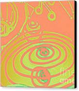 Her Navel Peach Vibrates Pulsates  Canvas Print by Feile Case