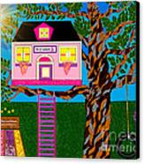 Her Tree House Canvas Print by Lewanda Laboy