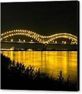 Hernando De Soto Bridge 002 Canvas Print by Lance Vaughn