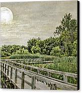 Heron Haven Boardwalk Canvas Print