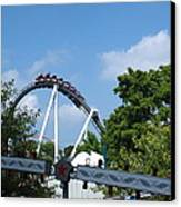 Hershey Park - Great Bear Roller Coaster - 121214 Canvas Print by DC Photographer