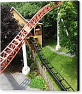 Hershey Park - Storm Runner Roller Coaster - 12121 Canvas Print by DC Photographer